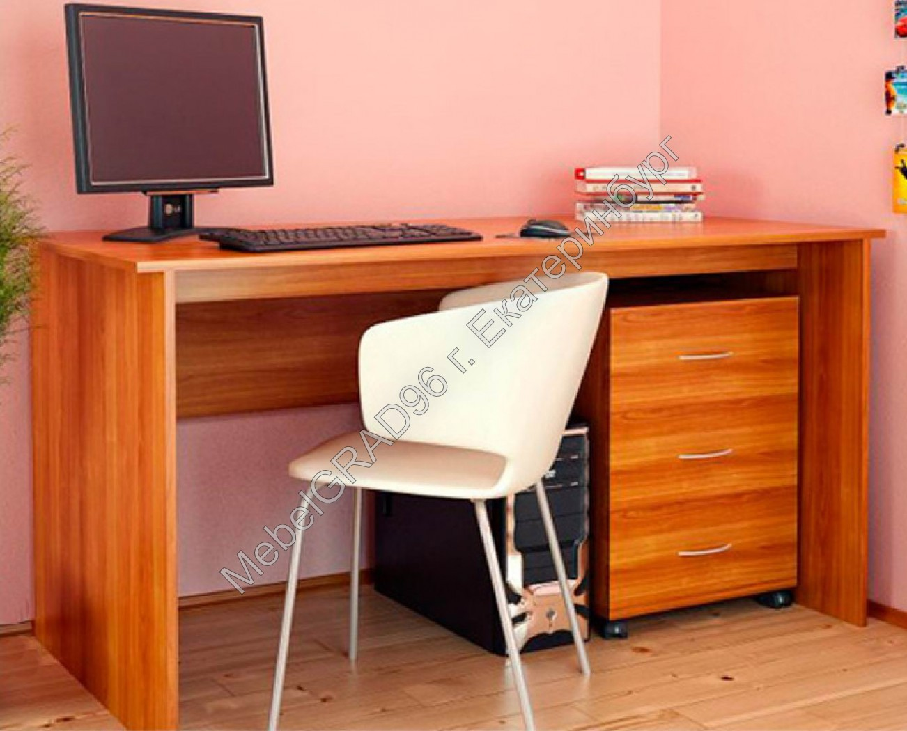 Стол с выкатной тумбой - интернет магазин мебели - mebelgrad.